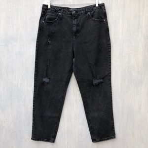 Wild Fable high rise distressed mom jeans black 18